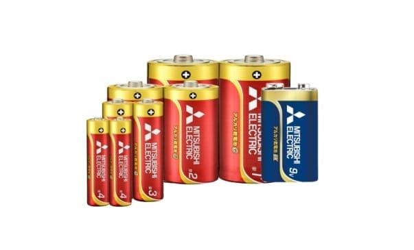 乾電池:マンガン乾電池・アルカリ乾電池